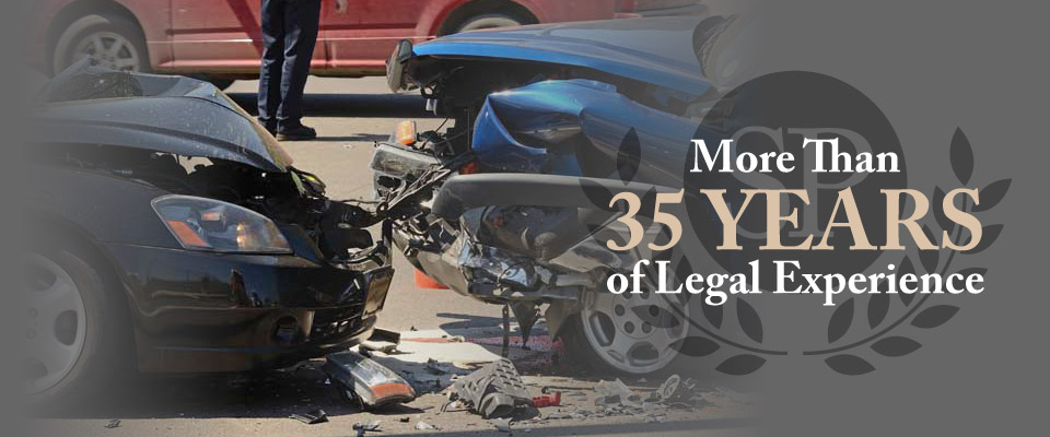 More than 35 years of legal experience | Head-on collision